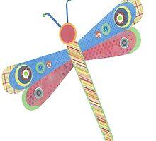 Paper Dragonfly by ZaMoArts