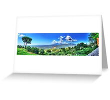 Panoramic of italy Greeting Card