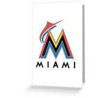miami merlins Greeting Card