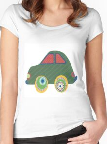 Kids Car Women's Fitted Scoop T-Shirt