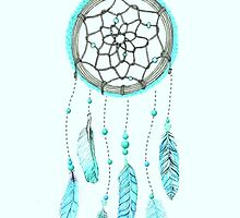 Blue Peacock Feather Tumblr Dreamcatcher by dreamcatching