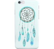 Blue Peacock Feather Tumblr Dreamcatcher iPhone Case/Skin