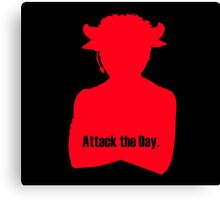 Attack the Day – Brass Knuckles Canvas Print