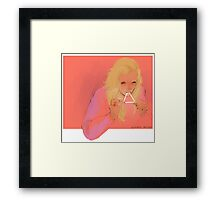 triangle eater Framed Print