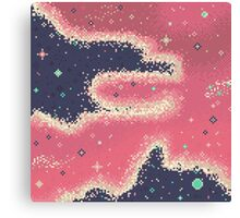 Pink Midnight Galaxy (8bit) Canvas Print