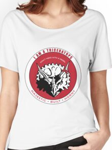 I AM A TRICERATOPS - Red/Black MBH Women's Relaxed Fit T-Shirt