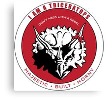 I AM A TRICERATOPS - Red/Black MBH Canvas Print