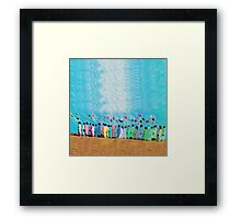 People with Balloons Framed Print