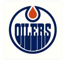 Edmonton Oilers Logo Art Print
