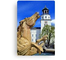 Horse Fountain in Salzburg Austria Canvas Print