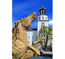 Horse Fountain in Salzburg Austria Photographic Print