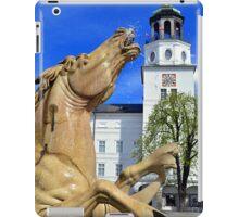 Horse Fountain in Salzburg Austria iPad Case/Skin