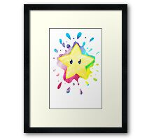 super star! - Mario Bros Framed Print