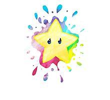 super star! - Mario Bros Photographic Print