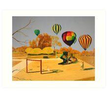 Hot Air Balloons over College Hill Park Art Print