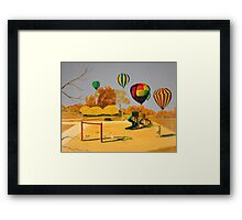 Hot Air Balloons over College Hill Park Framed Print