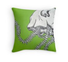 Green Bone Jelly Throw Pillow
