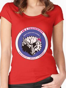 I AM A TRICERATOPS - Pink/Blue MBH Women's Fitted Scoop T-Shirt