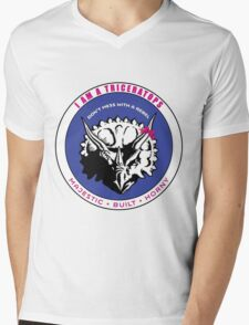 I AM A TRICERATOPS - Pink/Blue MBH Mens V-Neck T-Shirt