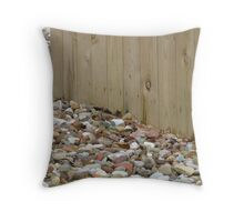 Texures, Wood, And Pebbles Throw Pillow