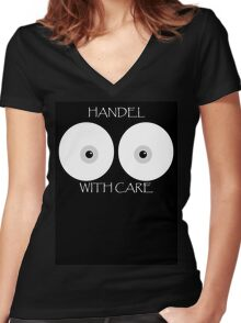 With Care Women's Fitted V-Neck T-Shirt