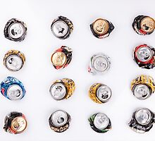 smashed beer drink cans  by Artur Mroszczyk