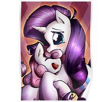 Sisterly love - Rarity & Sweetie Belle Poster