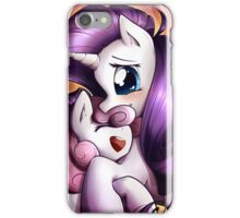 Sisterly love - Rarity & Sweetie Belle iPhone Case/Skin