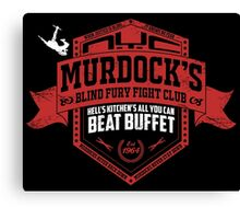 Murdock's Blind Fury Fight Club - Dist Red/White V02 Canvas Print