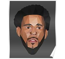 J. Cole Lowpoly Poster