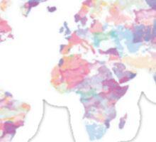 Pastel Map Sticker