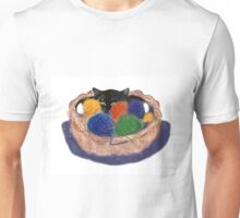Kitten in Yarn Basket Unisex T-Shirt