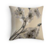 Flowers to the Past Throw Pillow