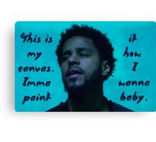 "J. Cole ""My Canvas"" Canvas Print"