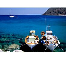 Fishing boats Photographic Print