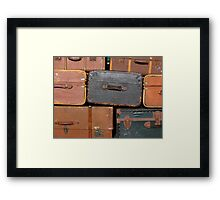 Suitcase background Framed Print