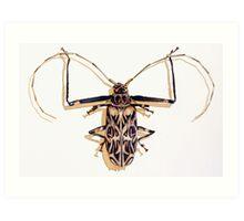 """""""Acrocinus longimanus"""" Harlequin Beetle Watercolor Art Print"""