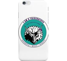 I am A Triceratops - Purple and Teal MBM iPhone Case/Skin