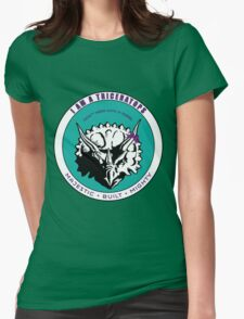 I am A Triceratops - Purple and Teal MBM Womens Fitted T-Shirt