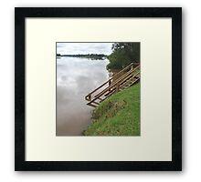 Manning River in Flood Framed Print