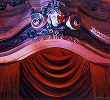 """Entrevous"" Missouri Theatre Watercolor by Paul Jackson"