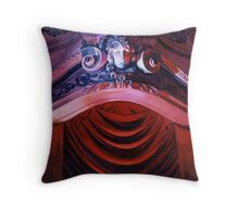 """""""Entrevous"""" Missouri Theatre Watercolor Throw Pillow"""
