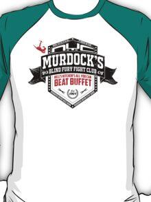 Murdock's Blind Fury Fight Club - Dist Black/Red/White T-Shirt