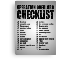 Operation Overlord Checklist Canvas Print
