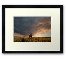 Standing under the storm  Framed Print