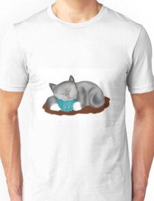 Yarn Pillow for Kitten Nap Unisex T-Shirt
