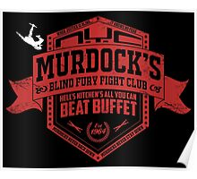 Murdock's Blind Fury Fight Club - Dist Red/White Poster