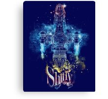 shiny space ship Canvas Print