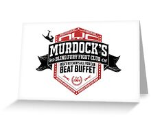 Murdock's Blind Fury Fight Club - Dist Black/Red/White 02 Greeting Card