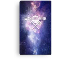 Wish and Work Galaxy Canvas Print
